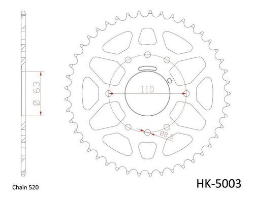 corona aluminio ktm 390 duke 2013-2020