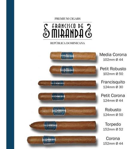 corona francisco miranda pack x10 cigarro dominican cigarros