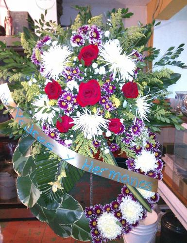 corona funebre de girasoles