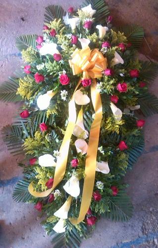 corona funebre doble copete