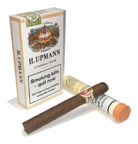 corona juniors cubanos tubos upmann upman habanos h fumar x3