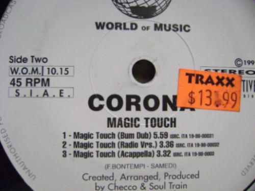corona - magic touch -  acetato mix importado -  dj