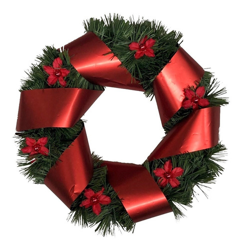 corona navidad 20 cm decorada #624