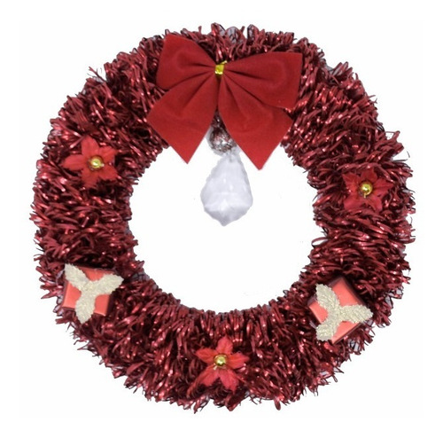 corona navidad 20 cm decorada #631