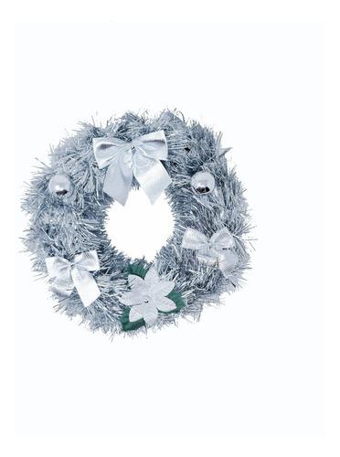 corona navidad 20 cm decorada #632