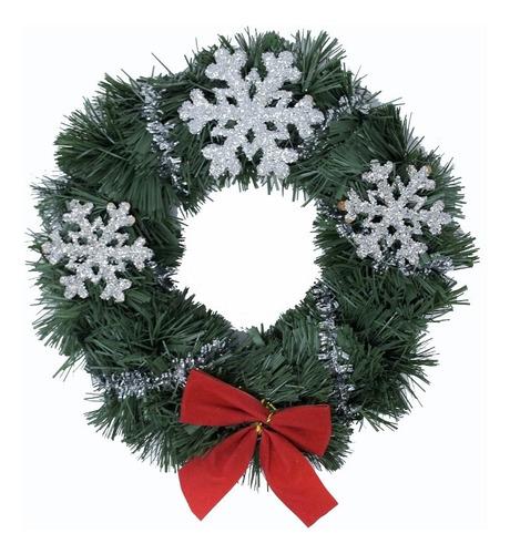 corona navidad 20 cm decorada #633