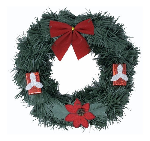 corona navidad 20 cm decorada #634