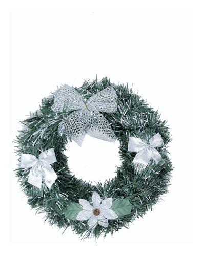 corona navidad 20 cm decorada #635