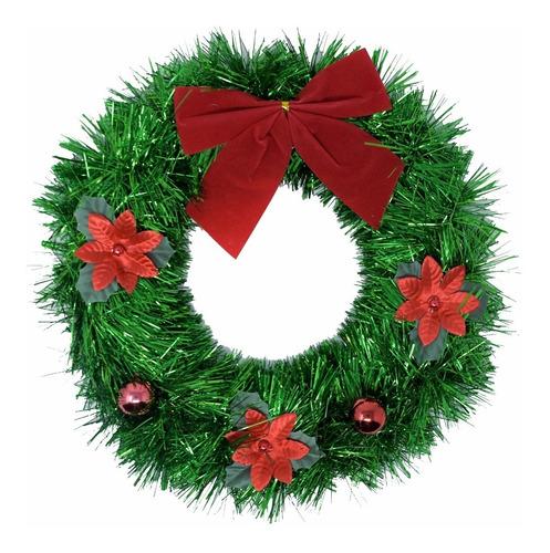 corona navidad 30 cm decorada #662