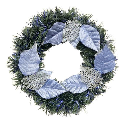 corona navidad 30 cm decorada #663