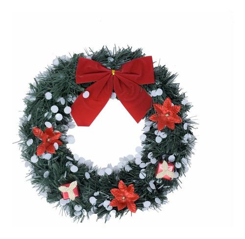corona navidad 30 cm decorada #665