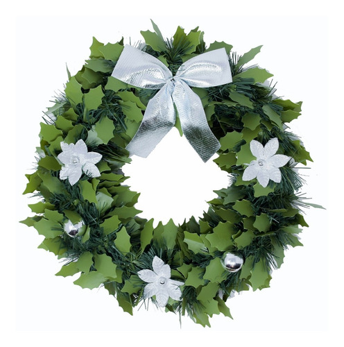 corona navidad 30 cm decorada #666