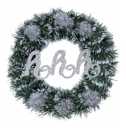 corona navidad 30 cm decorada #671