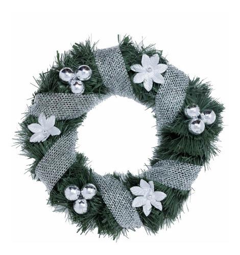 corona navidad 30 cm decorada #673