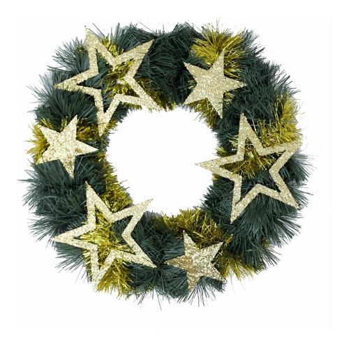 corona navidad 30 cm decorada #674