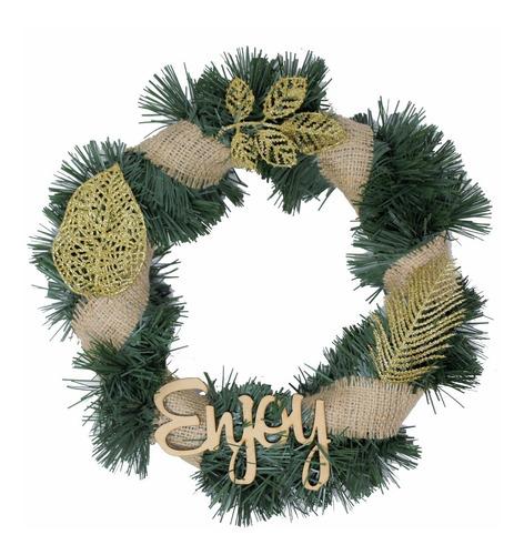 corona navidad 30 cm decorada #675