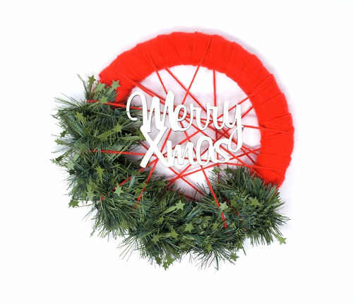 corona navidad 30 cm decorada #679