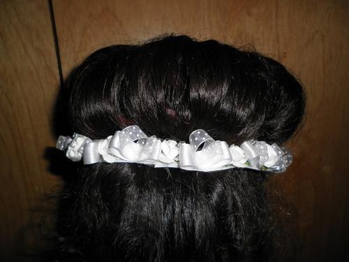 corona tocado tiara arreglo comunion presentacion princesa