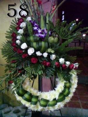 coronas fúnebres, flores ofrendas florales