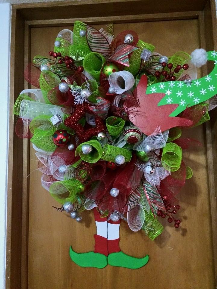 coronas navidad duendes cargando zoom - Coronas Navidad