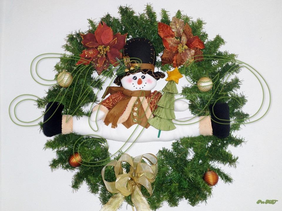 Coronas navide as mu eco de nieve decoraci n navidad for Adornos navidenos mercadolibre