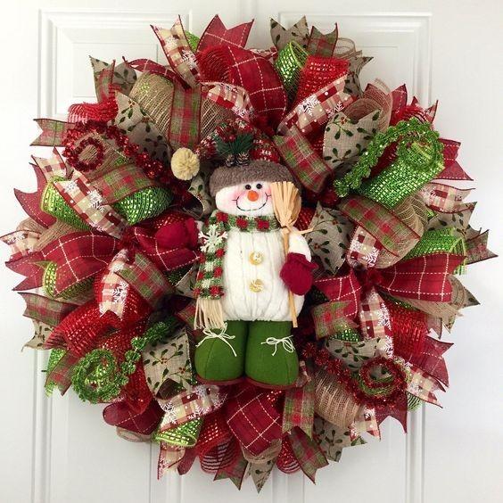 Coronas navide as para puerta 1 en mercado libre for Articulos de decoracion para navidad