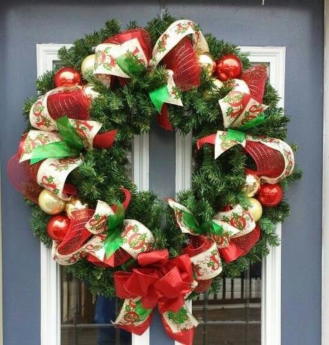 Coronas navide as para puerta 1 en mercado libre for Guirnaldas navidenas para puertas y ventanas