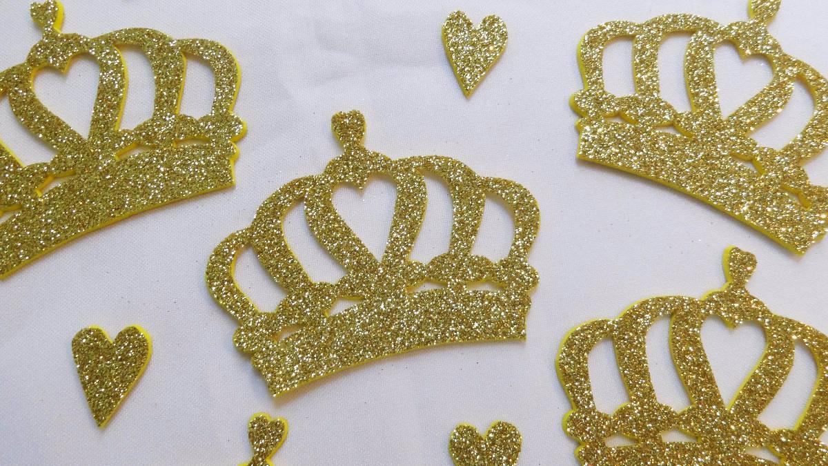 Coronas Princesas Goma Eva Con Glitter 9900 En Mercado Libre