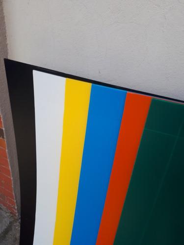 coroplast 6 colores surtidos 1.22x72cm con envío