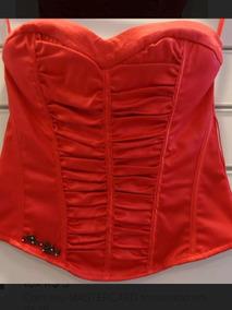73c0abf0ae Cropped Top Blusa Corpete Bojo Alça Camurça Vermelho · Corpete Vermelho  Planet Girls