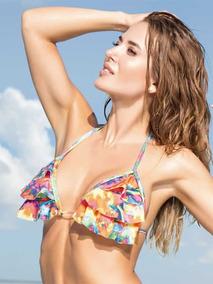 e2b7d9b0b27f Corpiño Playero Para Bikini Cocot 12656 Triángulo 3 Volados