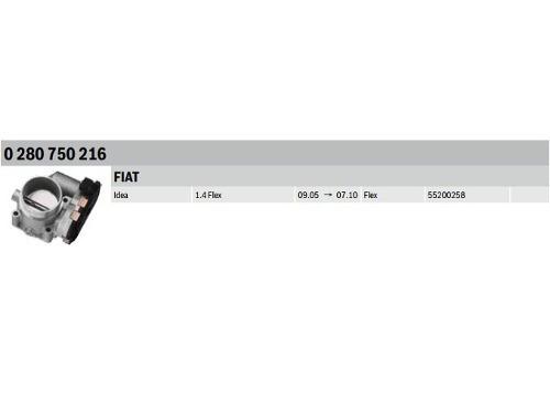 corpo borboleta tbi doblo idea palio 1.4 8v 55198265 bosch