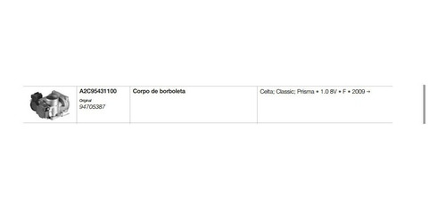 corpo de borboleta tbi gm celta prisma 1.0 8v flex 24579416