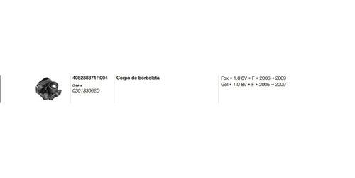 corpo de borboleta tbi gol parati fox 1.0 flex 030133062d