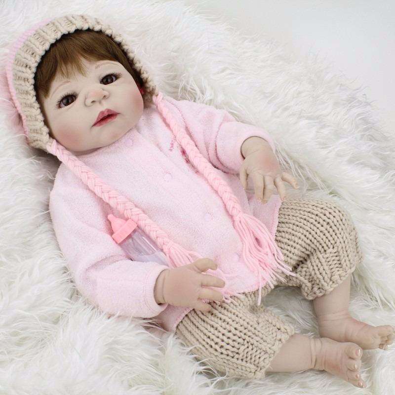 Corpo Inteiro De Vinil Silicone Boneca Bebe Reborn - R ...