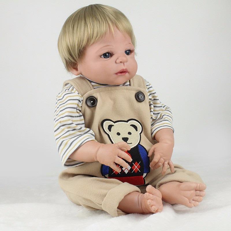 036f27164 corpo silicone boneca bebe reborn menino prona entrega loiro. Carregando  zoom.