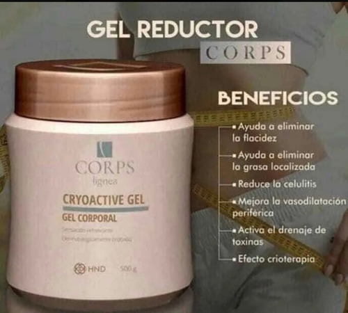 corps crema cryoactive gel reductor abdomen fit define hdn