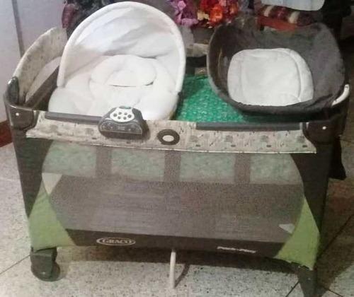 corral, cambiador, porta bebé (asiento auto) y coche graco