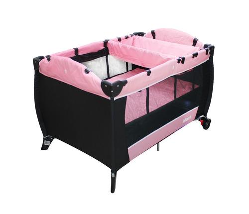 corral cuna con cambiador jbp701c gama pink infanti - jbp701