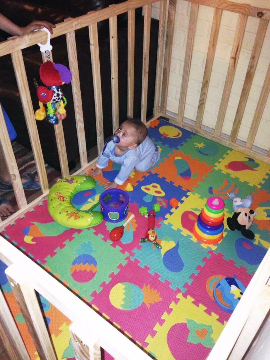 Corral de madera para bebe guagua ni cm for Sillas para guaguas
