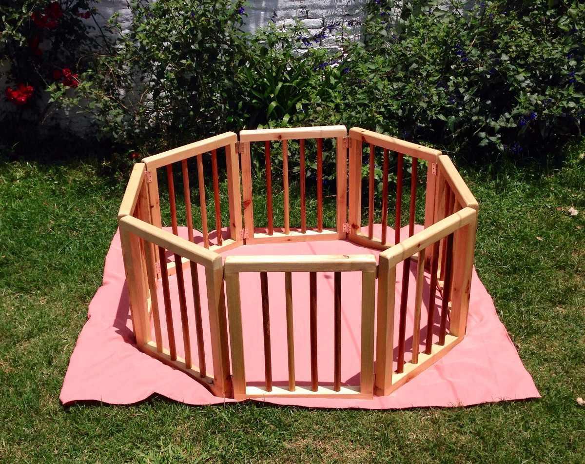 corral de madera para bebs