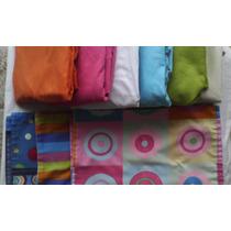 6 Esquineros Unicolor Para Cuna + 10 Fundas Estampadas Usada