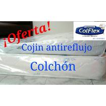 Colchón Impermeable Cuna 1.30x0.70+ Cojín Antireflujo Regal