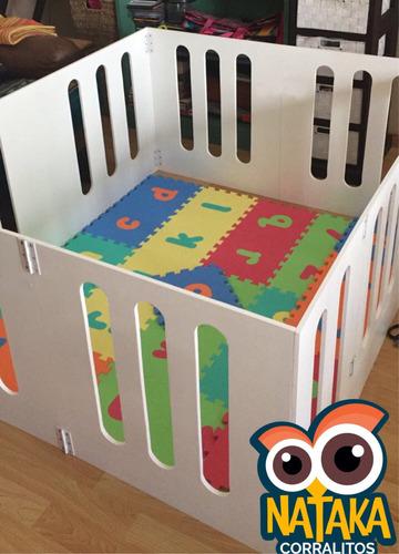corralito de madera para bebes desarmable - 120x100