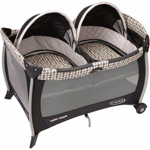 Corralito moises doble para bebes gemelos graco cuna - Cunas para bebes gemelos ...