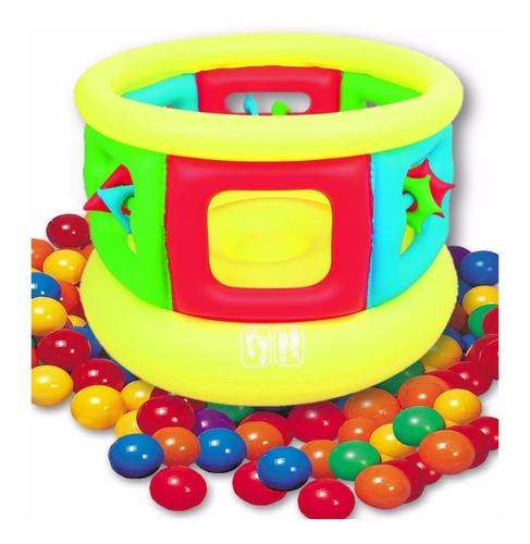 corralito pelotero inflable para chicos + 200 pelotas