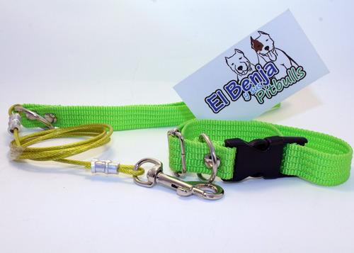 correa cable de acero perro chico