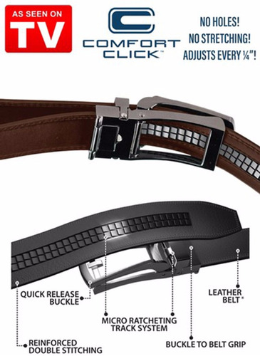 correa cinturon ajustable comfort click,tallas 28 a 48.negra