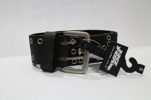 correa cinturon no fear marron huecos metal consulte talla