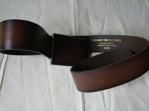 correa cinturon original genuino cuero tommy hilfiger 36/90